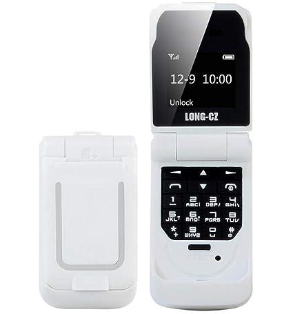 Amazon.com: Long-CZ J9 - Mini teléfono móvil con tapa (0,66 ...