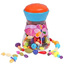 Pop Snap Beads Set, Zooawa DIY Jewelry Creative Kits for Girls Making Necklace, Earings, Bracelets and Rings, [200 Pcs] Crafts Gift for 3+ Kids