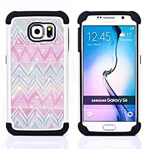 For Samsung Galaxy S6 G9200 - chevron winter Christmas pink blue Dual Layer caso de Shell HUELGA Impacto pata de cabra con im????genes gr????ficas Steam - Funny Shop -