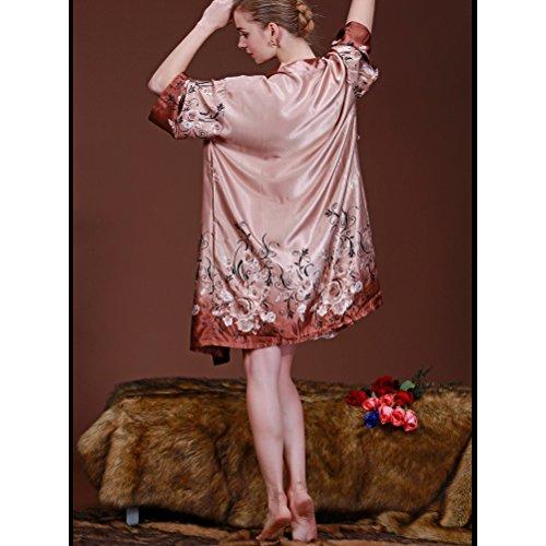 Zhhlaixing Vintage Style Donna Raso Camicia da Notte Robe Chemises Lingerie Nightdress Set