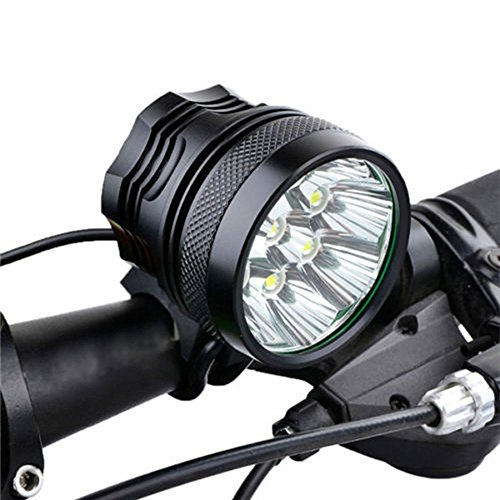 32000LM 13 x CREE XM-L T6 LED 6 x 18650 Bicycle Cycling Light Waterproof Lamp,1 x 8.4V 15000mAh Battery Pack,Switch Mode: High/Low/Strobe,as Headlamp or Bicycle Light.