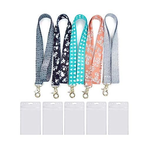 ) – Cool Keys Lanyard - Durable and Premium Quality Key Lanyard for Women with ID Badge Holders ()
