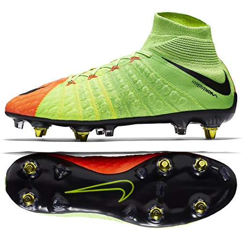 87ca91fa0c0 Nike Hypervenom Phantom 3 DF SG-PRO AC 899982-306 Green Orange Men s ...