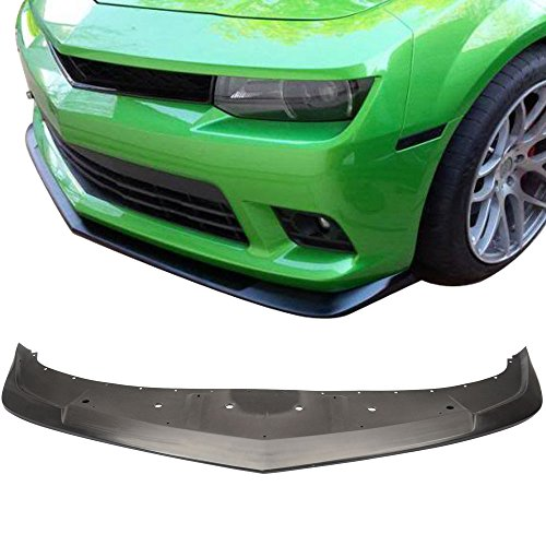 Lip Acs Front (Front Bumper Lip Fits 2014-2015 Chevrolet Camaro | AC-S Style Unpainted Raw Material Black PU Front Lip Finisher Under Chin Spoiler Add On by IKON MOTORSPORTS)
