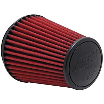 AEM 21-2100DK Universal DryFlow Clamp-On Air Filter: Round Tapered; 6 in (152 mm) Flange ID; 8.125 in (206 mm) Height; 7.5 in (191 mm) Base; 5.125 in (130 mm) Top: Automotive