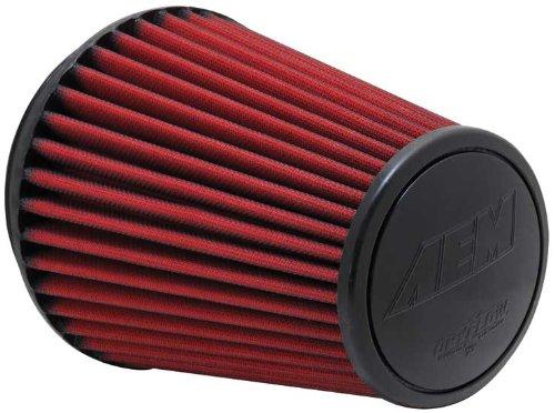 AEM 21-2100DK Universal DryFlow Clamp-On Air Filter: Round Tapered; 6 in (152 mm) Flange ID; 8.125 in (206 mm) Height; 7.5 in (191 mm) Base; 5.125 in (130 mm) Top