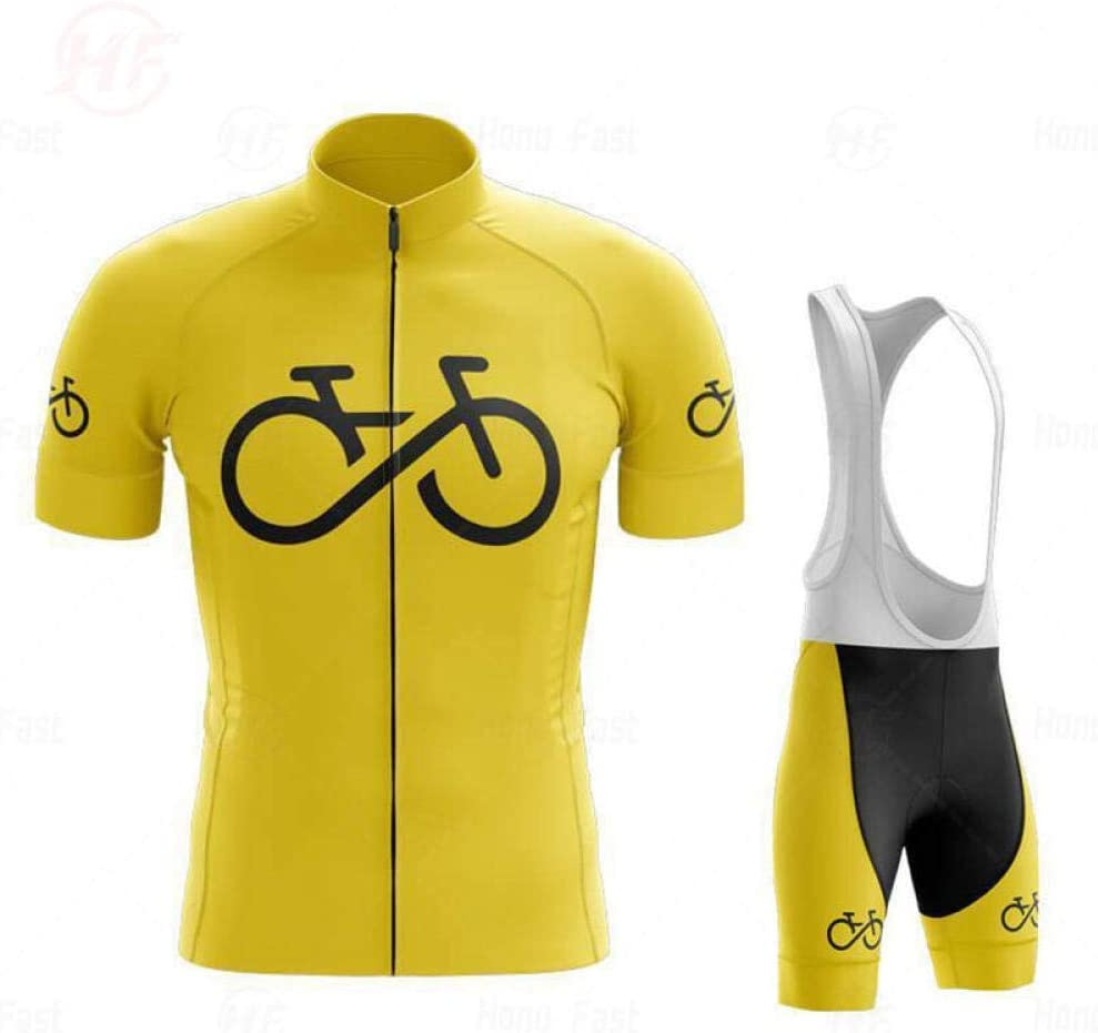 LWQ Mens Cycling Clothing Set,Summer Men Cycling Jersey Short Set,MTB Bicycle Cycling Clothing triathlon-A01/_3XL