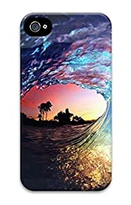 iPhone 4 Cases, Unique Design Sea Circle for iPhone 4 3D Protective Cover