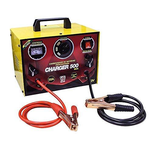 Carregador De Baterias Charger 500 Box V8 Brasil Charger 500 Box Amarelo/ Vermelho