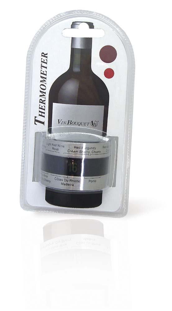 Thermom/ètre analogique pour Bouteilles Vin Bouquet FIC 009