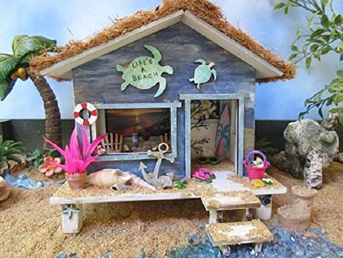 Amazon.com: Fairy Garden Miniature Beach Hut Cottage OOAK