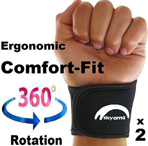 2 x verstellbar Neopren Handgelenk Support Armbänder Größe Herren Frauen Youth Kid 360 ° Comfort Fit