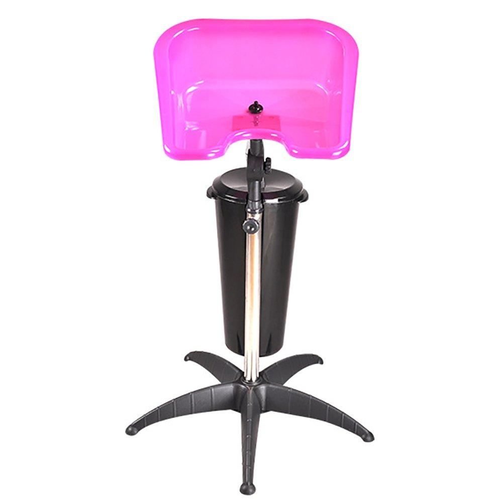 Height Adjustable Portable Salon Barber Beauty Storage Deep Hair Shampoo Basin Sink Hair Treatment Bowl With Barrel,Black