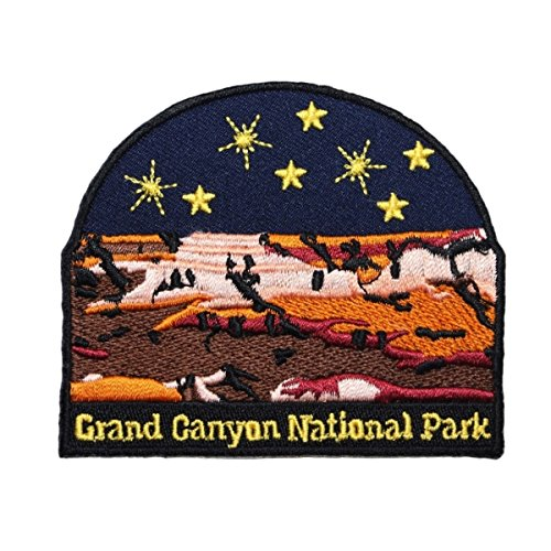 Grand Canyon National Park Patch US Travel Badge Embroidered Iron On Applique - Embroidered Parka