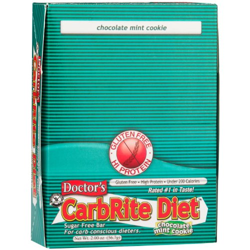 Doctor's CarbRite Diet Chocolate Mint Cookie Bars, 2 oz, 12 count