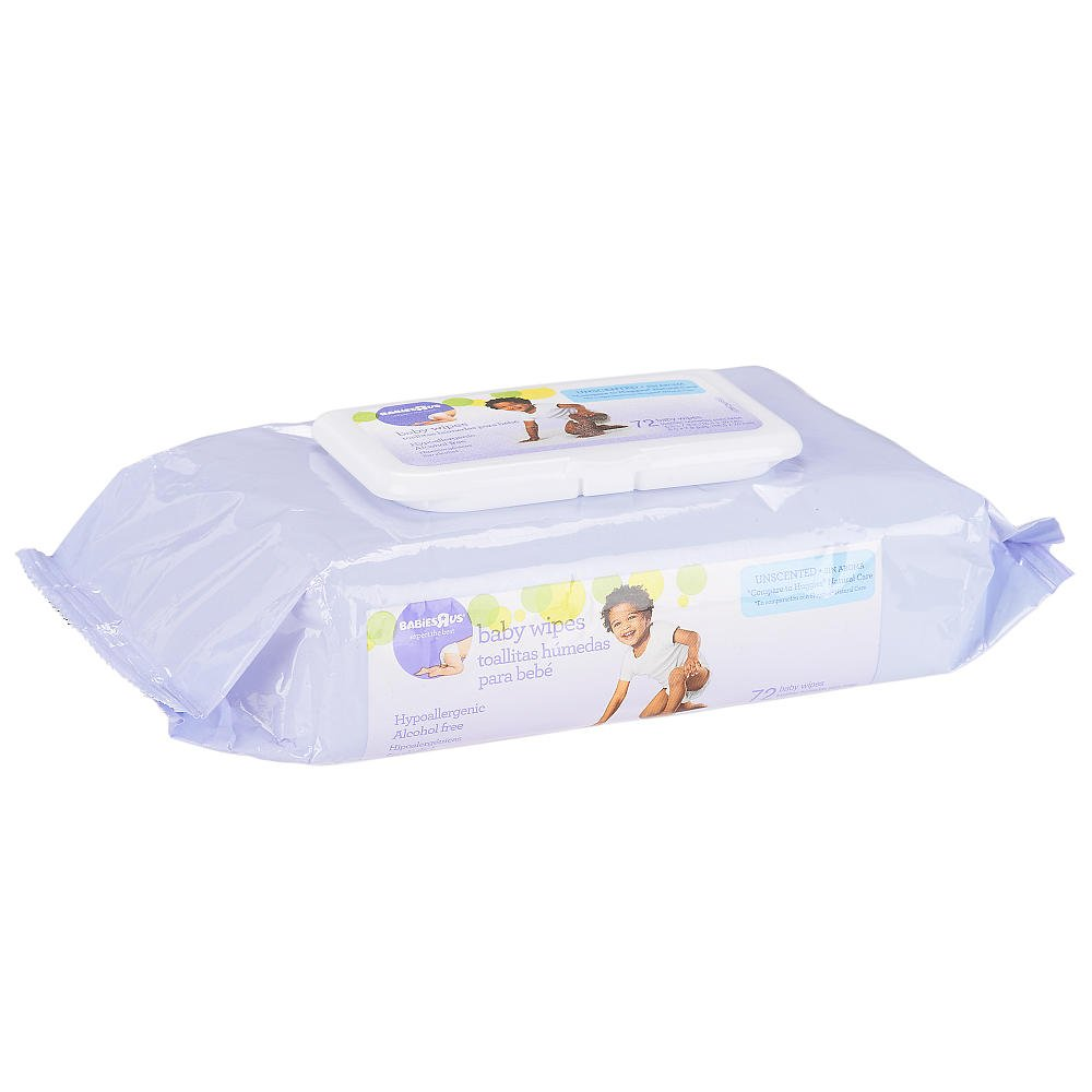 Amazon.com : Babies R Us - Unscented Baby Wipes Soft Pack 72 Count : Baby