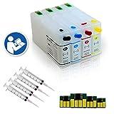 4 EMPTY Refillable Cartridges for T786XL T786 786 788 788XXL EPSON WorkForce Pro WF-4630 WF-5690 WF-5620 WF-5190 WF-5110 WF-4640