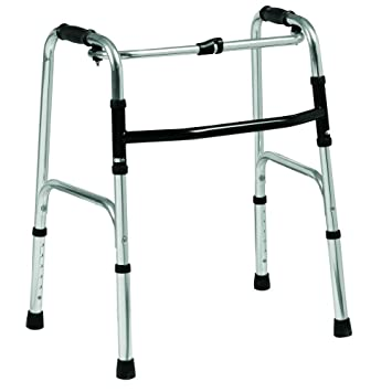 Folding lightweight aluminium walking zimmer frame walker ...