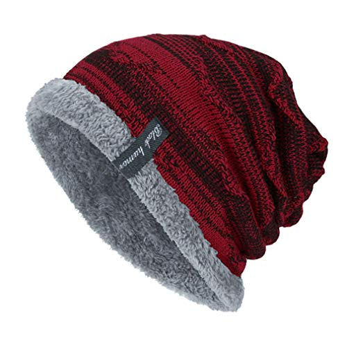 Invierno Libre Juleya para Tejida cálido Deportes Sombrero Vino de Gorrita rojo Aire de Sombrero de Interiores Hombres cálido y al WpXp8T