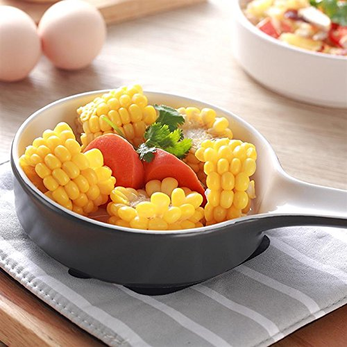 Ceramics Cake Pan Single Handle Non-stick Cake Pizza Bowl Cakes Muffin Loaf Pan Roaster Pastry Tools Kitchen Accessories Dark - Gray Roaster