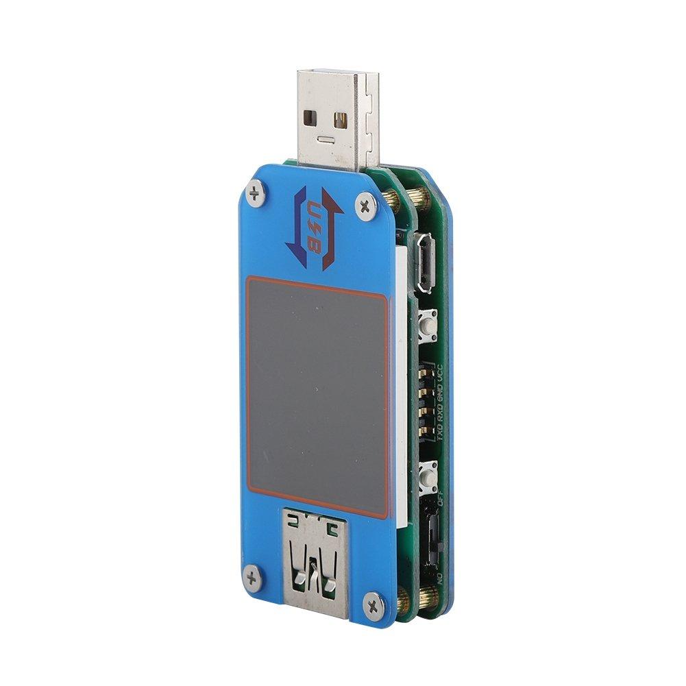 VBESTLIFE USB Tester,USB Typ C Schnittstelle 2.0 Bluetooth Spannung Strom Tester,Voltmeter Multimeter mit Farbbildschirm