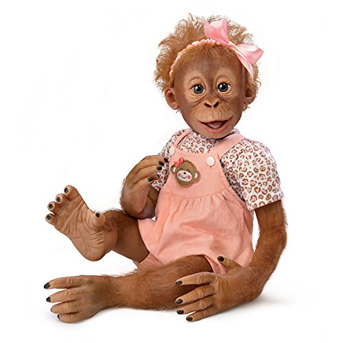 Realistic Baby Monkey Doll by Ina Volprich Holds Every Pose by The Ashton-Drake Galleries (Monkey Baby Doll)