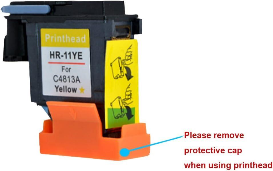 hotcolor 4 unidades (BK C M Y) de repuesto para HP 11 Cabezal de ...