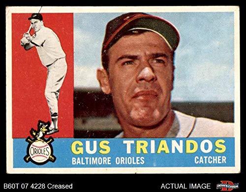 1960 Topps # 60 Gus Triandos Baltimore Orioles (Baseball Card) Dean's Cards 3 - VG Orioles ()