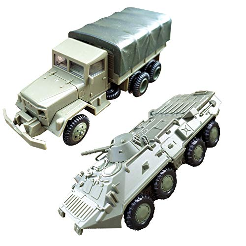 SuBoZhuLiuJ 2Pcs/Set 1/72 M35 Truck BTR-80 Cavalry for sale  Delivered anywhere in USA