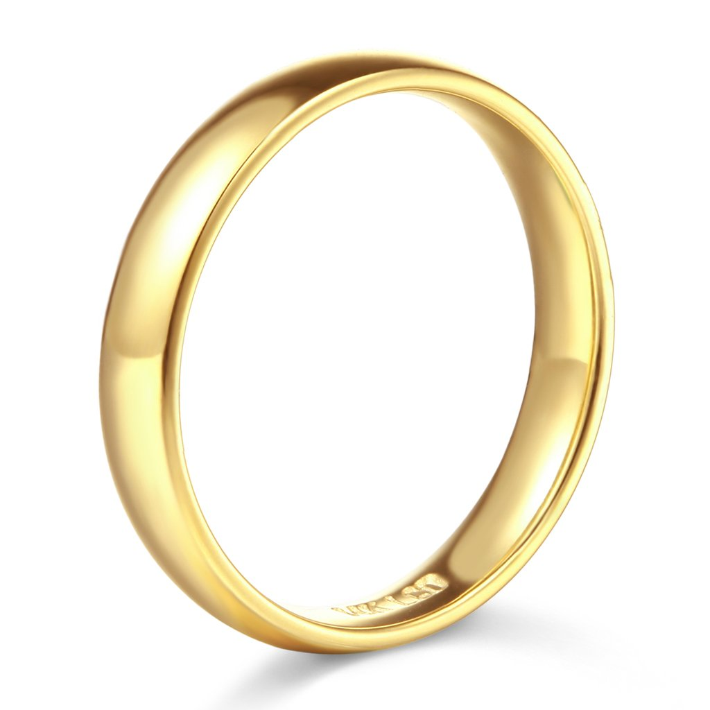 14k Yellow Gold 7mm SOLID COMFORT FIT Plain Wedding Band - Size 12 by TWJC (Image #2)