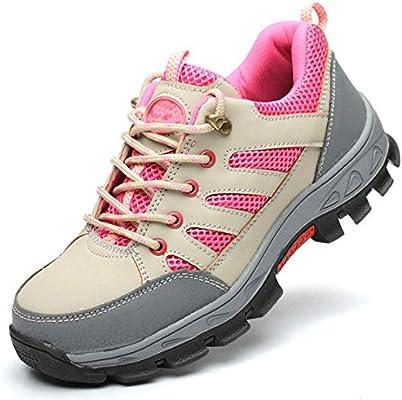 JIEFU Zapatos de Seguridad para Mujer Ligeros Calzado de Trabajo S3 Puntera de Acero Transpirables Deportivo Botas de Protección,Pink,34EU: Amazon.es: Zapatos y complementos
