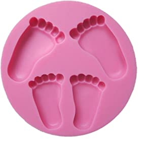 Yunko Pretty Baby Feet Fondant Mold Wedding Cake Mould Decoration Baking Tool