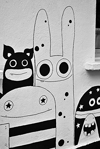 Amazon Com Laminated Poster Spray Monster Graffiti Street Art Comic