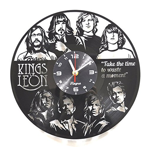 KINGS OF LEON Vinyl Wall Clock Rock Music Decor for Living R