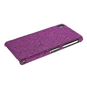 Glitter Hard Rubberized Shiny Coating Back Case Cover For Sony Xperia Z2 Purple
