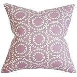 The Pillow Collection Yowanda Geometric Floor Pillow Purple