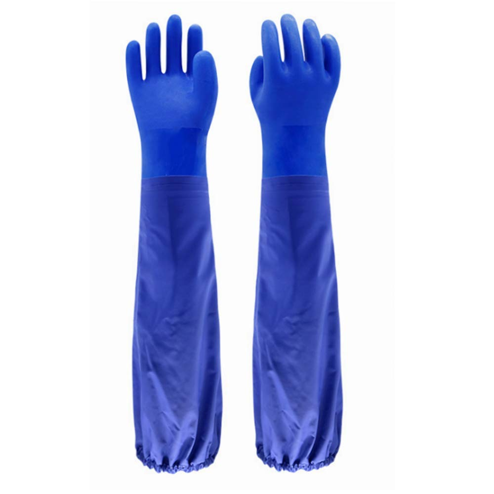 Insulated & Waterproof PVC Coated Glove with Cotton liner, Heavy Duty Latex Gloves, Resist Acid, Alkali and Oil,Fishery, Machinery, Chemical industry-26""