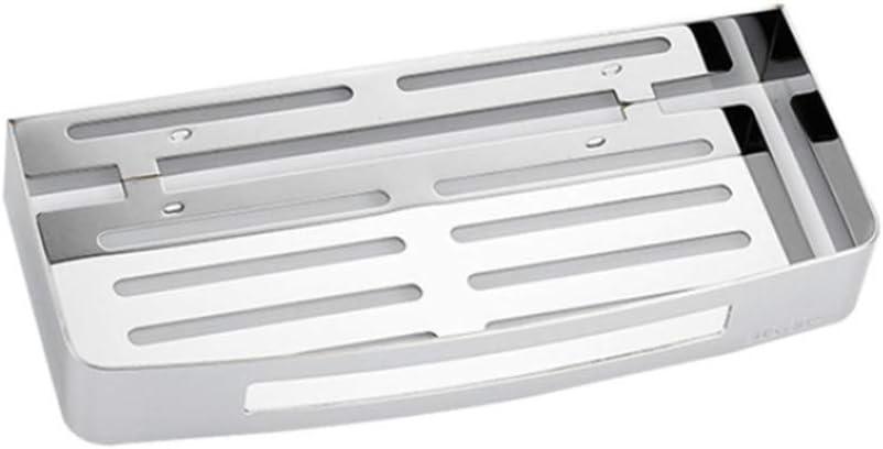 Amgend Mensola Da Bagno Pratico Supporto In Acciaio Inox Senza Foratura Per Rack Contenitore Multifunzione Per Montaggio A Parete Per La Cucina