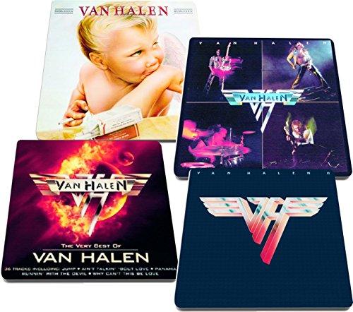 Van Halen Rock and Roll Albums Reproduced on Neoprene Coaster Set of 4