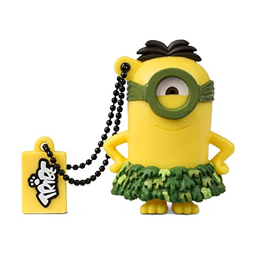 Price comparison product image Tribe FD021514 Minions Despicable Me Au Naturel USB Stick 16GB Pen Drive, Gift Idea 3D Figure, PVC USB Gadget with Key holder Key Ring, Yellow