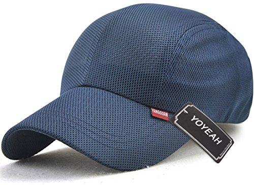 Revgear Long Sleeve (YOYEAH Unisex Snapback Baseball Cap Summer Sun Hat Outdoor Sports Mesh Hat Navy Blue)