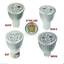 Bingirl 5pcs Lot LED Spot Light 3W 4W 5W E27 GU10 GU5 3 MR16 12V Bulb Lamp AC85V 265V 4W E27 warm white
