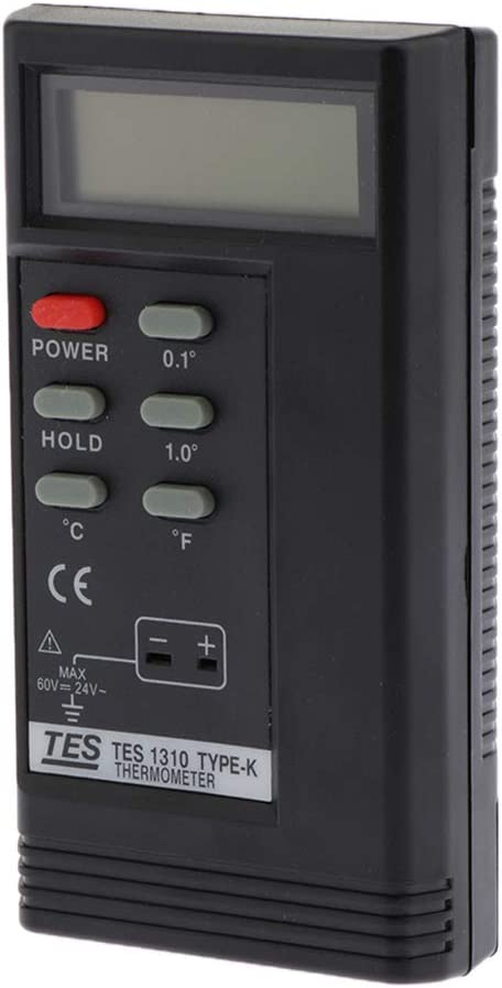 K-Type Temperature Controller Thermocouple Sensors 0 /° C to 1300 /° C Tes1310 Digital Thermometer