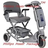 Tzora - Easy Travel Elite - Folding Lightweight Travel Scooter - 3-Wheel - Silver - PHILLIPS POWER PACKAGE TM - TO $500 VALUE