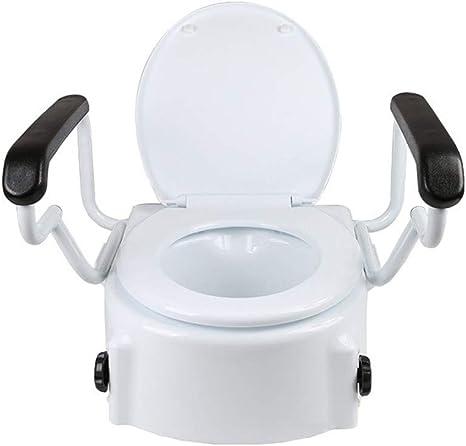 Sedile Wc Rialzato Per Disabili.Sedile Del Wc Rialzato Sollevatore Del Sedile Del Wc Per La Sicurezza Del Bagno Assistenza Per Disabili Anziani O Portatori Di Handicap Amazon It Sport E Tempo Libero