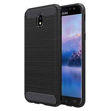 Vkaiy Funda Samsung J3 2017, Samsung J3 2017 Carcasa, Samsung J3 2017 Anti-Rasguño Totalmente Protectora Fundas Caso, Fibra de Carbono Cover Case para ...