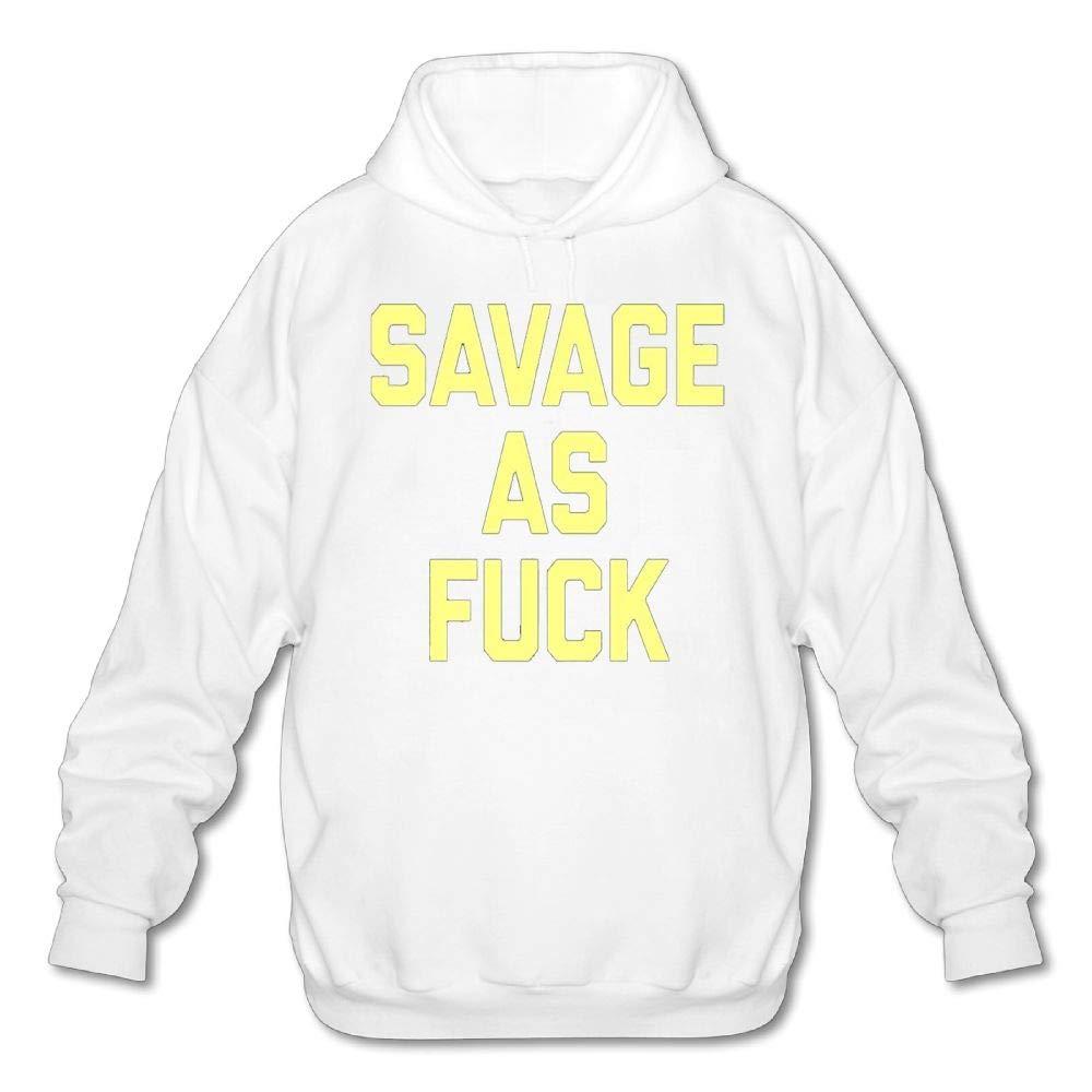Mens Long Sleeve Cotton Hoodie Savage As Fuck 1 Sweatshirt