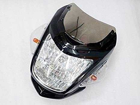 Amazon com: Black Two Ears Headlight Turn Signal Light Hi