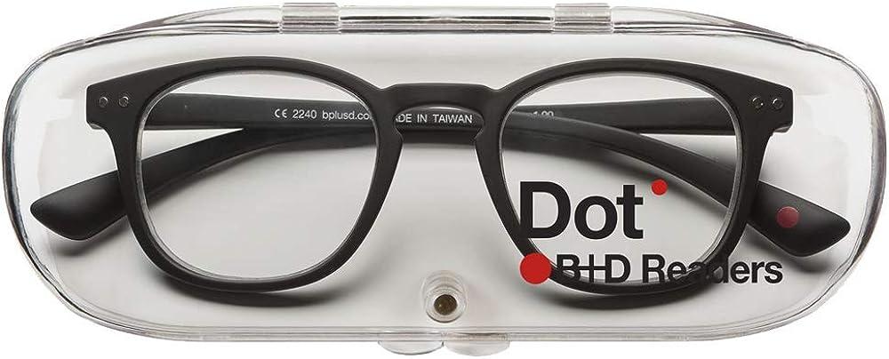3.00 Eyeglasses 2240-99-30 2240-99-30 B+D Dot Reader Matt Black