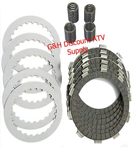 Clutch Friction Disks Plates Springs Rebuild Kit Set for the 1988-2000 Honda TRX 300 Fourtrax Atv Clutch Friction Plates